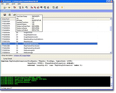 PE Explorer 1.99 R6 screenshot