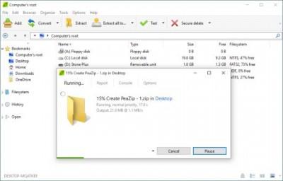 PeaZip Portable 6.8.1 screenshot