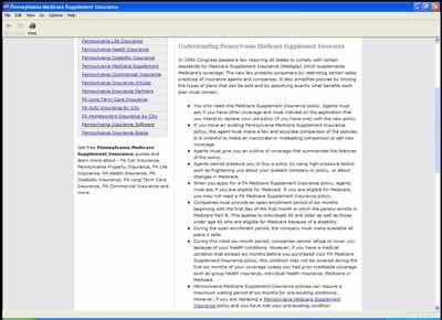 Pennsylvania Medicare Supplement Insurance 1 screenshot