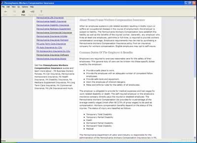 Pennsylvania Workers Compensation Insurance 1 screenshot