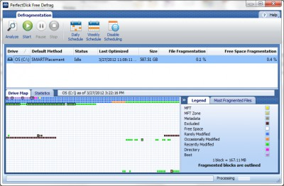 PerfectDisk Free 1 screenshot