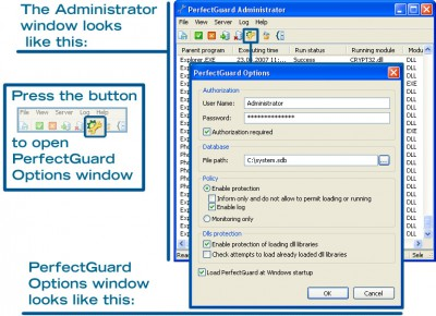 PerfectGuard 1.1 screenshot