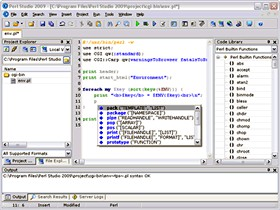 Perl Studio 2009 2.3.3 screenshot