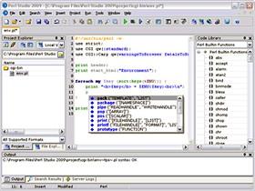 Perl Studio 2009 2.3.3 screenshot
