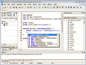 Perl Studio 2.6.2 screenshot