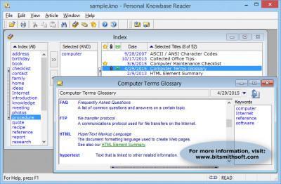 Personal Knowbase Reader 4.1.2 screenshot