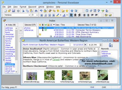 Personal Knowbase 4.1.2 screenshot