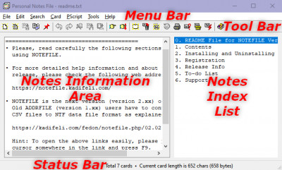 Personal Notes File 2.02 screenshot