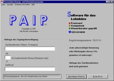 Personalabrechnungs- und Informationspr. 3.14 screenshot