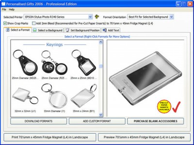 Personalised Gift Making Software 1.0.0.1 screenshot