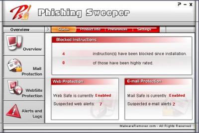 Phishing Sweeper 2.1.0.2 screenshot