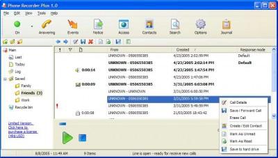 Phone Recorder Plus 1.1 screenshot