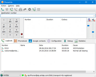 PhonerLite 2.68 screenshot