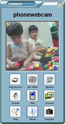 Phonewebcam Publisher 3.6 screenshot