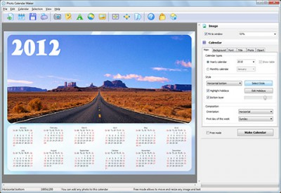 Photo Calendar Maker 2.83 screenshot