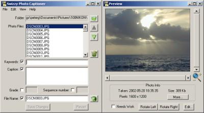Photo Captioner 1.5.0 screenshot