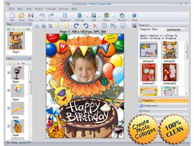 Photo Collage Max 2.3.0.8 screenshot