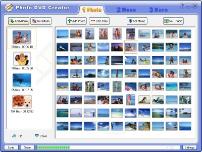 Photo DVD Creator 8.73 screenshot