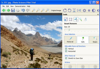 Photo Scissors Pilot 1.2 screenshot