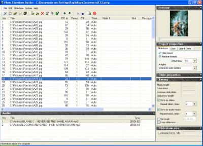 Photo Slideshow Builder 2.0 screenshot