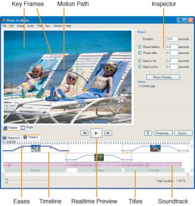 Photo to Movie (Windows XP) 3.5.5 screenshot