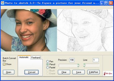 Photo to Sketch 3.51 screenshot