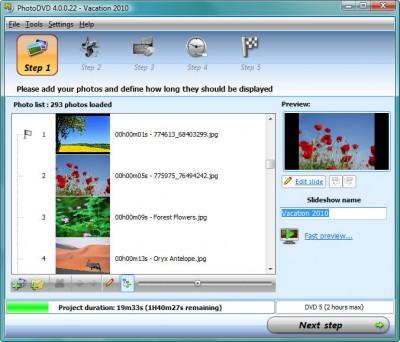 PhotoDVD 4.0.0.37d screenshot