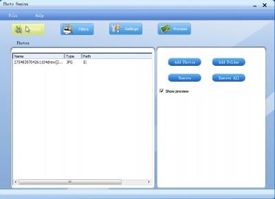 PhotoGenius 2.5 screenshot