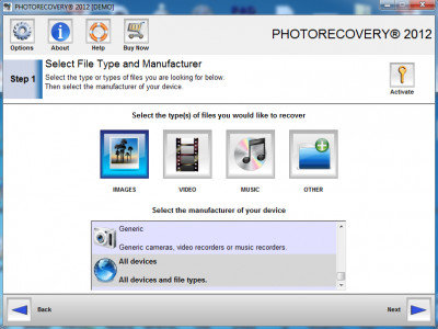 PHOTORECOVERY Standard 2016 for PC 5.1.4.8 screenshot