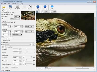 PhotoZoom Pro 7.1.0 screenshot