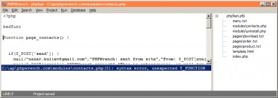 phpCodeAssist 1.01 screenshot