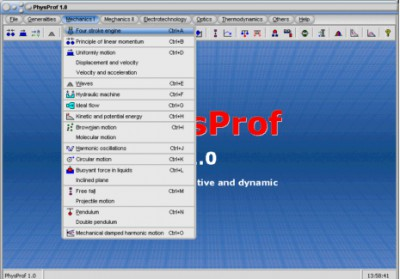PhysProf 1.0 screenshot