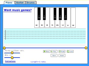 Piano, guitar and drums game 9 screenshot