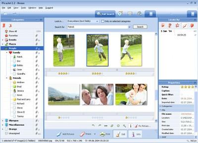PicaJet Photo Organizer 2.6.5 screenshot