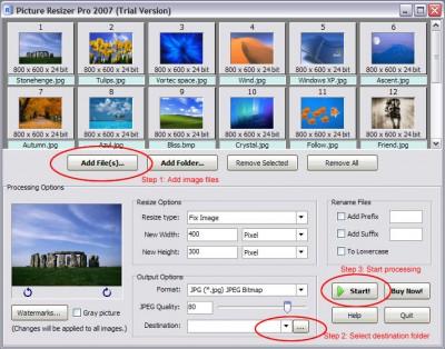 Picture Resizer Pro 2007 2.6.6.5.2 screenshot