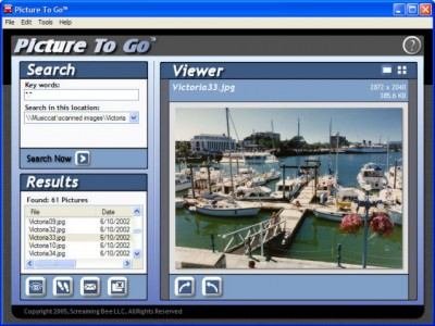Picture To Go 1.5.6 screenshot