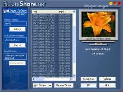 PictureShare.net Wallpaper Manager 4.2.1 screenshot