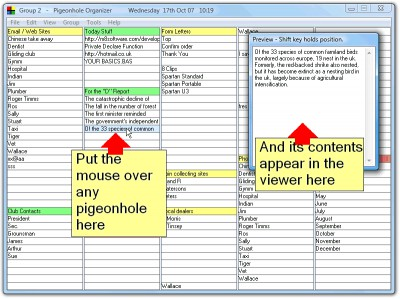 Pigeonhole Organizer 1.30.18 screenshot