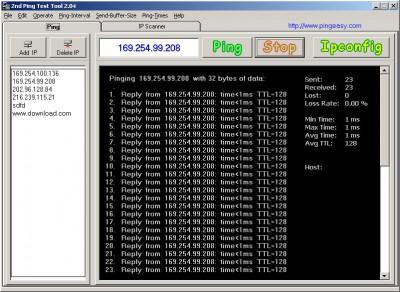 Ping Test Easy Freeware 2.04 screenshot