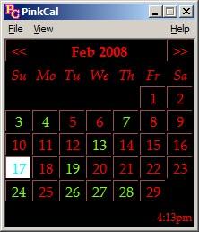 Pink Calendar and Day Planner 8.0.5 screenshot