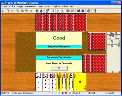 Piquet by MeggieSoft Games 2008 screenshot