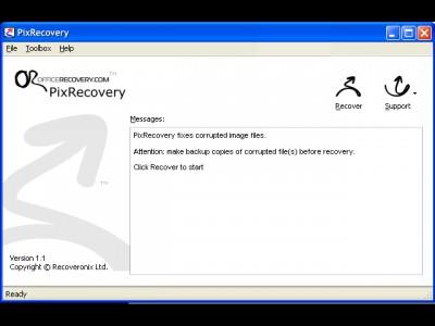 PixRecovery 1.6.1005 screenshot