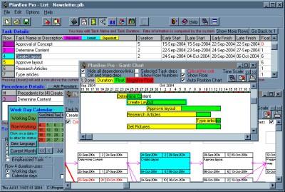 PlanBee project management planning tool 2.0e screenshot