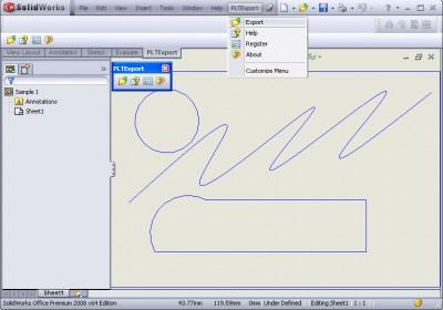 PLT Export for SolidWorks 1.0 screenshot