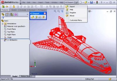 PLT Import for SolidWorks 1.0 screenshot