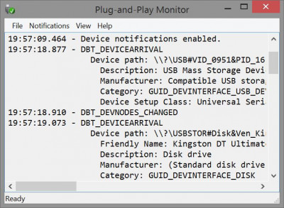 Plug-and-Play Monitor 1.0 (Build screenshot