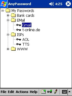 Pocket AnyPassword 1.0 screenshot