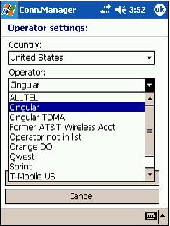 Pocket Connection Manager 3.01 screenshot
