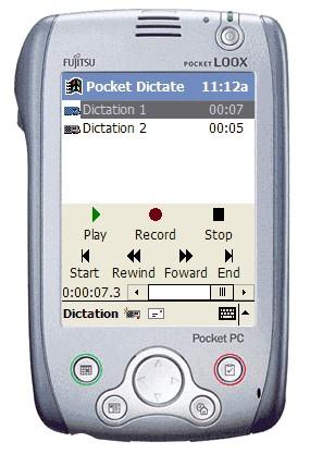 Pocket Dictate Dictation Recorder 1.02 screenshot