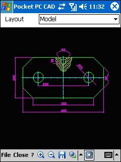 Pocket PC CAD Viewer: DWG, DXF, PLT 1.52 screenshot
